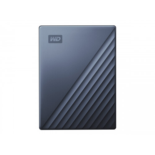 WD My Passport Ultra WDBFTM0040BBL - Hard drive - encrypted - 4 TB - external (portable) - USB 3.0 (USB-C connector) - 256-bit AES - blue