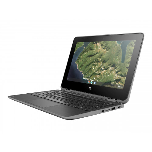 HP Chromebook x360 11 G2 - Education Edition - flip design - Celeron N4000 / 1.1 GHz - Google Chrome OS 64 - 4 GB RAM - 32 GB eMMC - 11.6&uot; IPS touchscreen 1366 x 768 (HD) - HD Graphics 600 - Wi-Fi, Bluetooth - kbd: UK