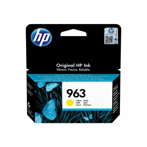 HP 963 - 10.7 ml - yellow - original - ink cartridge - for Officejet Pro 9010, 9012, 9013, 9014, 9015, 9016, 9018, 9019, 9020, 9022, 9023, 9025, 9028