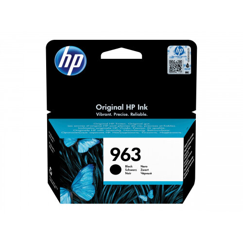 HP 963 - 24.09 ml - black - original - ink cartridge - for Officejet Pro 9010, 9012, 9013, 9014, 9015, 9016, 9018, 9019, 9020, 9022, 9023, 9025, 9028