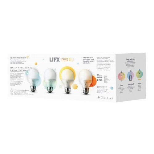 LIFX Mini Day ∓ Dusk - LED light bulb - shape: A60 - E27 - 9 W (equivalent 60 W) - warm white/daylight - 1500-4000 K - pearl white (pack of 4)