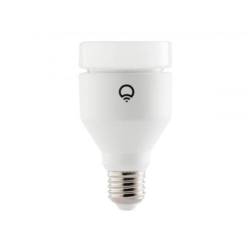 LIFX - LED light bulb - shape: A19 - E27 - 11 W (equivalent 75 W) - class A+ - 16 million colours - 2500-9000 K - pearl white