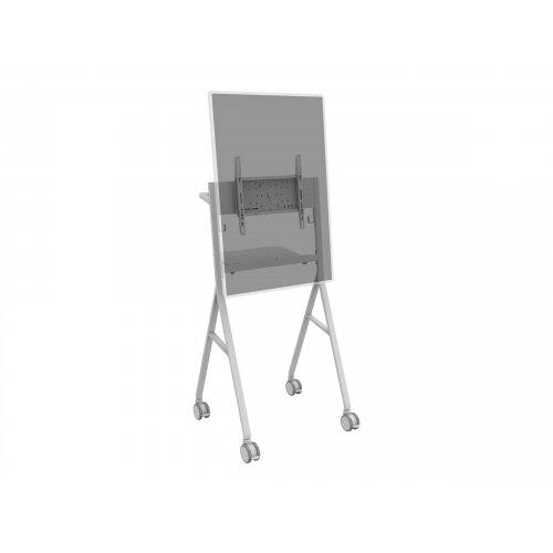 Vision VFM-F10 - Cart for LCD / plasma panel - steel - off-white - screen size: 50&uot;-55&uot;