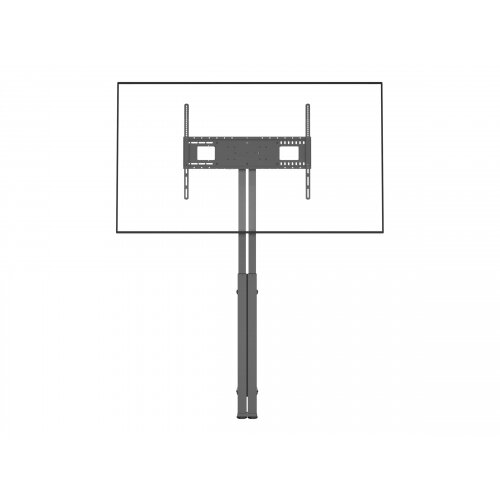 Vision - Floor stand for LCD display (motorised) - steel - matte black - screen size: 47&uot;-90&uot;