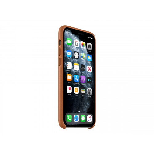 Apple - Back cover for mobile phone - leather - saddle brown - for iPhone 11 Pro