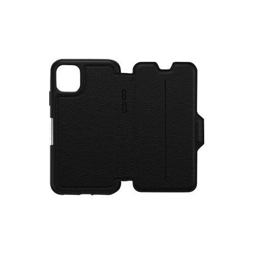 OtterBox Strada Series - Flip cover for mobile phone - leather, polycarbonate - shadow black - for Apple iPhone 11