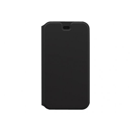 OtterBox Strada Series Via - Flip cover for mobile phone - polyurethane, polycarbonate, synthetic rubber - black night - for Apple iPhone 11 Pro
