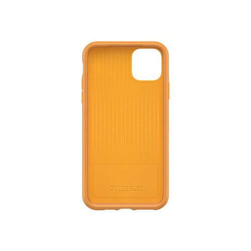 OtterBox Symmetry Series - Back cover for mobile phone - polycarbonate, synthetic rubber - aspen gleam yellow - for Apple iPhone 11 Pro Max