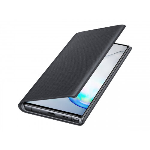 Samsung LED View Cover EF-NN970 - Flip cover for mobile phone - black - for Galaxy Note 10 (Unlocked), Note10