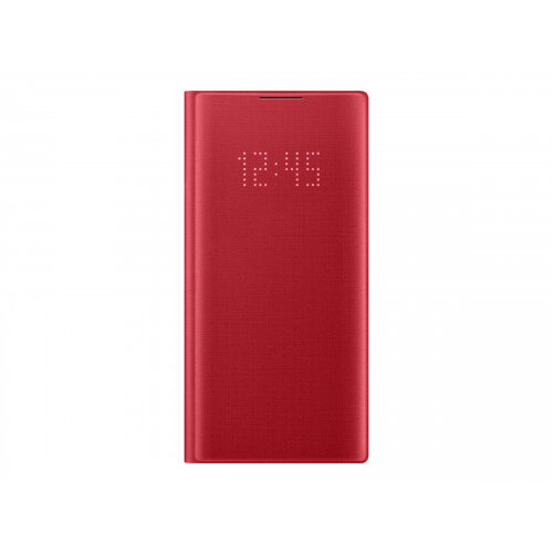 Samsung LED View Cover EF-NN970 - Flip cover for mobile phone - red - for Galaxy Note 10 (Unlocked), Note10