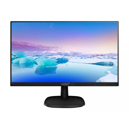 Philips V-line 273V7QJAB - LED monitor - 27&uot; - 1920 x 1080 Full HD (1080p) - IPS - 250 cd/m&up2; - 1000:1 - 4 ms - HDMI, VGA, DisplayPort - speakers - textured black