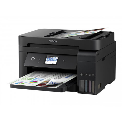 Epson EcoTank ET-4750 Unlimited - Multifunction printer - colour - ink-jet - A4/Legal (media) - up to 33 ppm (printing) - 250 sheets - 33.6 Kbps - USB, LAN, Wi-Fi
