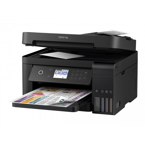 Epson EcoTank ET-3750 - Unlimited - multifunction printer - colour - ink-jet - 297.2 x 355.6 mm (original) - A4/Legal (media) - up to 33 ppm (printing) - 150 sheets - USB, LAN, Wi-Fi