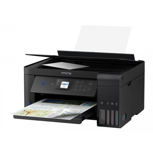 Epson EcoTank ET-2750 - Unlimited - multifunction printer - colour - ink-jet - A4/Legal (media) - up to 33 ppm (printing) - 100 sheets - USB, Wi-Fi - black
