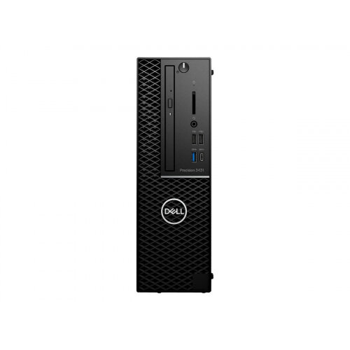 Dell Precision 3431 - SFF - 1 x Xeon E-2224 / 3.4 GHz - RAM 16 GB - SSD 256 GB - DVD-Writer - Radeon Pro WX 4100 - GigE - Win 10 Pro 64-bit - vPro - monitor: none - BTP - with 1 Year ProSupport with Next Business Day On-Site Service