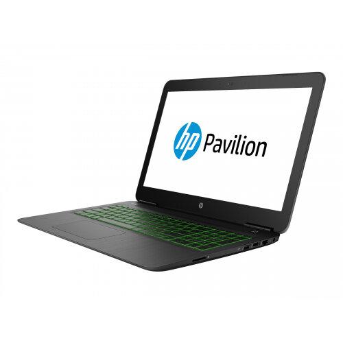 HP Pavilion 15-dp0003na - Core i7 8750H / 2.2 GHz - Win 10 Home 64-bit - 8 GB RAM - 128 GB SSD + 1 TB HDD - 15.6&uot; IPS 1920 x 1080 (Full HD) - GF GTX 1060 / UHD Graphics 630 - Wi-Fi, Bluetooth - shadow black, vertical brushed pattern, chrome (logo) -