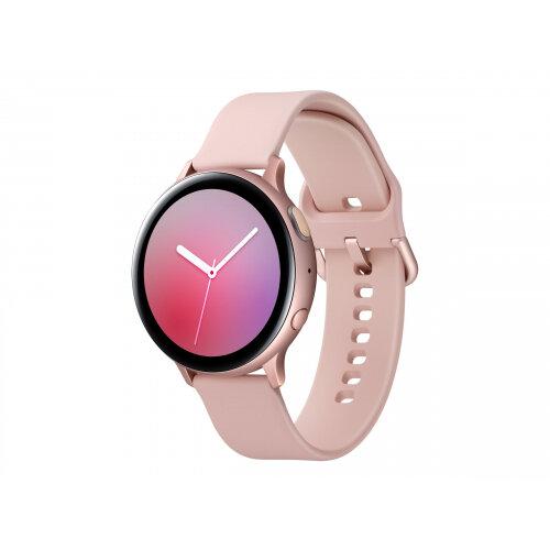 Samsung Galaxy Watch Active 2 - 44 mm - pink gold aluminium - smart watch with band - fluoroelastomer - pink gold - display 1.4&uot; - 4 GB - Wi-Fi, NFC, Bluetooth - 30 g