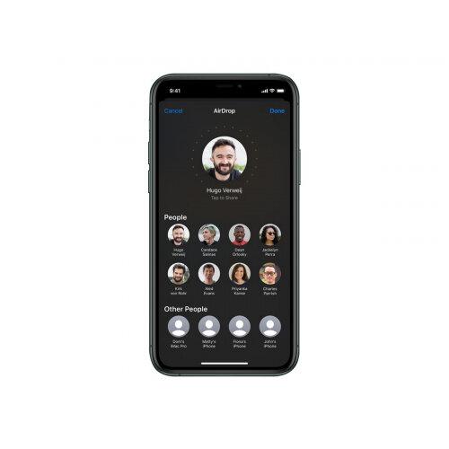 Apple iPhone 11 Pro - Smartphone - dual-SIM - 4G Gigabit Class LTE - 256 GB - GSM - 5.8&uot; - 2436 x 1125 pixels (458 ppi) - Super Retina XDR Display (12 MP front camera) - 3x rear cameras - midnight green