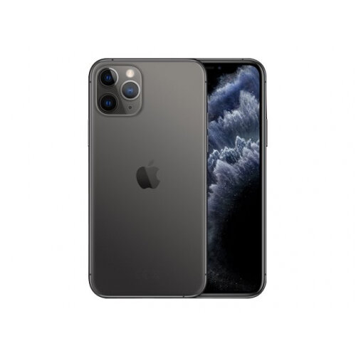 Apple iPhone 11 Pro - Smartphone - dual-SIM - 4G Gigabit Class LTE - 512 GB - GSM - 5.8&uot; - 2436 x 1125 pixels (458 ppi) - Super Retina XDR Display (12 MP front camera) - 3x rear cameras - space grey