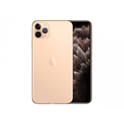 Apple iPhone 11 Pro Max - Smartphone - dual-SIM - 4G Gigabit Class LTE - 256 GB - GSM - 6.5&uot; - 2688 x 1242 pixels (458 ppi) - Super Retina XDR Display (12 MP front camera) - 3x rear cameras - gold
