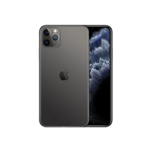 Apple iPhone 11 Pro Max - Smartphone - dual-SIM - 4G Gigabit Class LTE - 512 GB - GSM - 6.5&uot; - 2688 x 1242 pixels (458 ppi) - Super Retina XDR Display (12 MP front camera) - 3x rear cameras - space grey