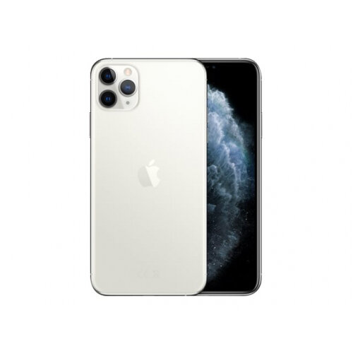 Apple iPhone 11 Pro Max - Smartphone - dual-SIM - 4G Gigabit Class LTE - 512 GB - GSM - 6.5&uot; - 2688 x 1242 pixels (458 ppi) - Super Retina XDR Display (12 MP front camera) - 3x rear cameras - silver