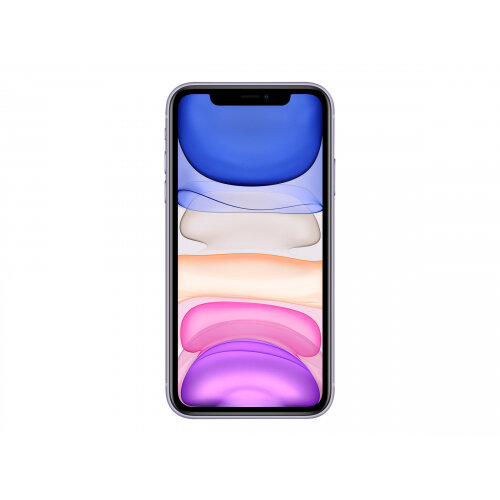 Apple iPhone 11 - Smartphone - dual-SIM - 4G Gigabit Class LTE - 128 GB - GSM - 6.1&uot; - 1792 x 828 pixels (326 ppi) - Liquid Retina HD display (12 MP front camera) - 2x rear cameras - purple