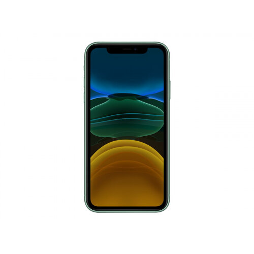 Apple iPhone 11 - Smartphone - dual-SIM - 4G Gigabit Class LTE - 128 GB - GSM - 6.1&uot; - 1792 x 828 pixels (326 ppi) - Liquid Retina HD display (12 MP front camera) - 2x rear cameras - green