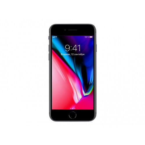 Apple iPhone 8 - Smartphone - 4G LTE Advanced - 128 GB - GSM - 4.7&uot; - 1334 x 750 pixels (326 ppi) - Retina HD - 12 MP (7 MP front camera) - space grey