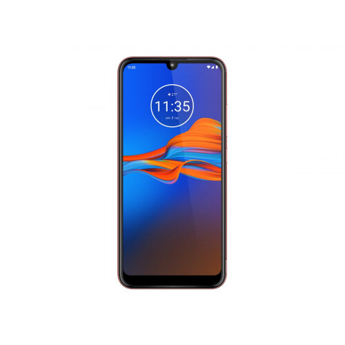 Motorola Moto E6 Plus - Smartphone - 4G LTE - 32 GB - microSDXC slot - GSM - 6.1&uot; - 1560 x 720 pixels - IPS - RAM 2 GB (8 MP front camera) - 2x rear cameras - Android - bright cherry