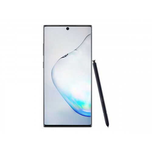 Samsung Galaxy Note10+ - Smartphone - dual-SIM - 4G LTE - 256 GB - microSDXC slot - TD-SCDMA / UMTS / GSM - 6.8&uot; - 3040 x 1440 pixels (498 ppi) - Dynamic AMOLED - RAM 12 GB (10 MP front camera) - 4x rear cameras - Android - aura black