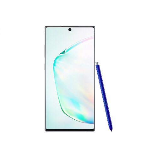 Samsung Galaxy Note10+ - Smartphone - dual-SIM - 4G LTE - 256 GB - microSDXC slot - TD-SCDMA / UMTS / GSM - 6.8&uot; - 3040 x 1440 pixels (498 ppi) - Dynamic AMOLED - RAM 12 GB (10 MP front camera) - 4x rear cameras - Android - aura glow