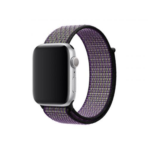 Apple 44mm Nike Sport Loop - Watch strap - Regular (fits wrists 145 -220 mm) - desert sand, volt - for Watch (42 mm, 44 mm)