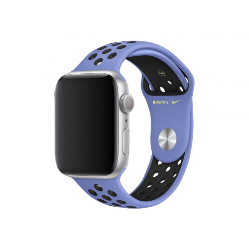 Apple 44mm Nike Sport Band - Watch strap - 140-210 mm - black, royal pulse - for Watch (42 mm, 44 mm)