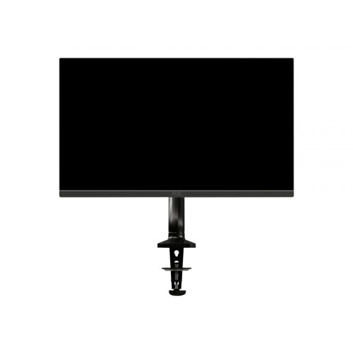 AOC AS110D0 - Desk mount for LCD display (adjustable arm) - aluminium alloy - black - screen size: up to 27&uot;