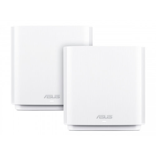 ASUS ZenWiFi AC (CT8) - Wi-Fi system (2 routers) - up to 5,400 sq.ft - mesh - GigE - 802.11a/b/g/n/ac - Tri-Band
