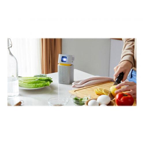 BenQ GV1 - DLP projector - LED - 200 ANSI lumens - WVGA (854 x 480) - 16:9 - Wi-Fi / Bluetooth