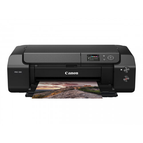 Canon imagePROGRAF PRO-300 - 13&uot; large-format printer - colour - ink-jet - A3/Ledger - up to 4.25 min/page (mono) / up to 4.25 min/page (colour) - capacity: 100 sheets - USB 2.0, LAN, Wi-Fi(n)