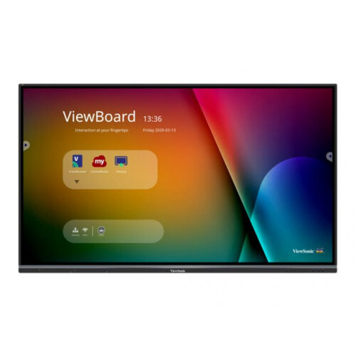 ViewSonic ViewBoard IFP6550-3 - 65&uot; Diagonal Class LED display - interactive - with touchscreen (multi touch) - 4K UHD (2160p) 3840 x 2160 - D-LED Backlight