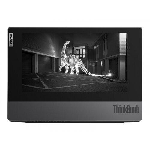 Lenovo ThinkBook Plus IML 20TG - Dual screen - Core i5 10210U / 1.6 GHz - Win 10 Pro 64-bit - 8 GB RAM - 256 GB SSD NVMe - 13.3&uot; IPS 1920 x 1080 (Full HD) - UHD Graphics - Bluetooth, Wi-Fi - iron grey - kbd: UK