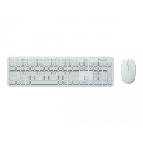 Microsoft Bluetooth Desktop - Keyboard and mouse set - wireless - Bluetooth 4.0 - UK - Glacier