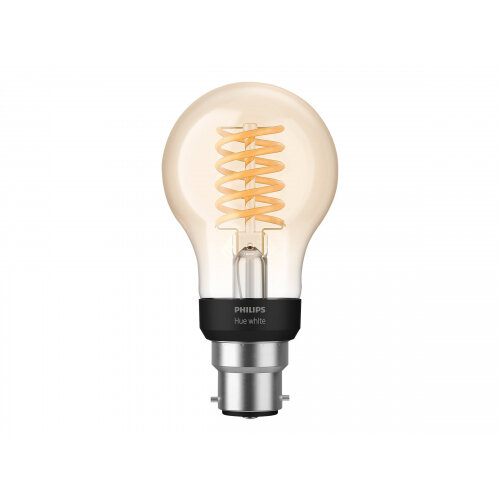 Philips Hue White - LED filament light bulb - shape: A60 - B22 - 7 W (equivalent 40 W) - class A+ - warm white light - 2100 K - transparent