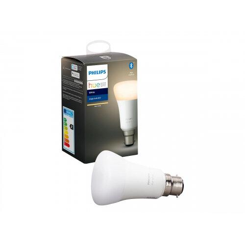 Philips Hue White - LED light bulb - shape: A60 - B22 - 9 W (equivalent 60 W) - class A+ - warm white light - 2700 K