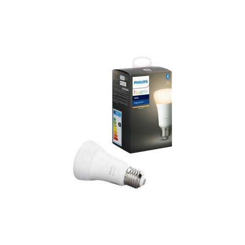 Philips Hue White - LED light bulb - shape: A60 - E27 - 9 W (equivalent 60 W) - class A+ - warm white light - 2700 K - white