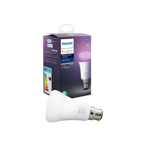 Philips Hue White and Color Ambiance - LED light bulb - shape: A60 - B22 - 9 W (equivalent 60 W) - class A+ - 16 million colours - 2200-6500 K