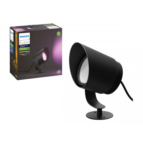 Philips Hue White and Color Ambiance Lily XL - Spot light - LED - 15 W (equivalent 80 W) - 16 million colours - 2000-6500 K - black