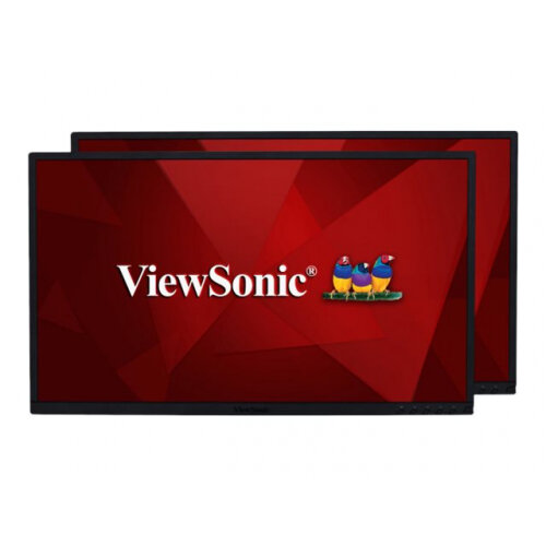 ViewSonic Dual Pack Head-Only VG2448 H2 - LED monitor - 24&uot; (23.8&uot; viewable) - 1920 x 1080 Full HD (1080p) @ 75 Hz - IPS - 250 cd/m&up2; - 1000:1 - 5 ms - HDMI, VGA, DisplayPort - speakers