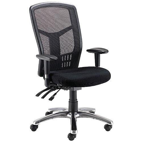 Avior 24 Hour High Back Mesh Task Operator Office Chair Black 09hd05