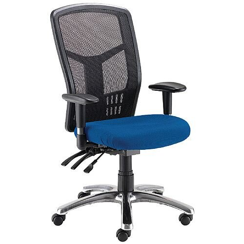Avior 24-Hour High Back Mesh Task Operator Office Chair Blue 09HD05