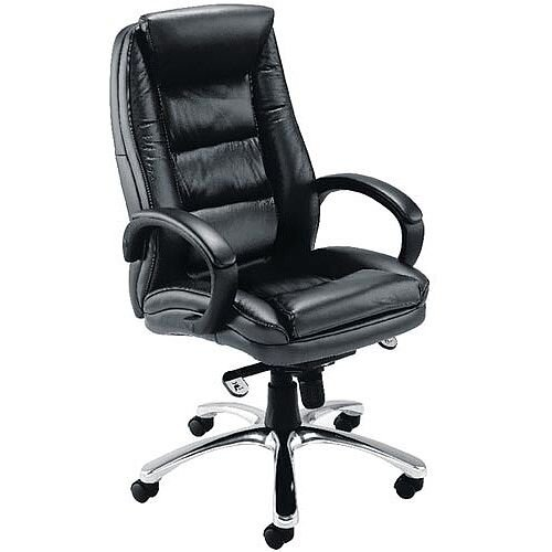 Avior Tuscany Contemporary Executive Leather Chair Black Kf72583